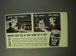 1951 Instant Tender Leaf Tea Ad - Perfect Iced Tea
