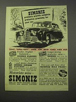 1951 Simoniz Wax Ad - Grooming For Your Car