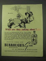 1951 Burrough's Gin Ad - What Are They Talking About?