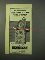 1951 Hennessy Cognac Ad - Sportsman's Flask