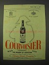 1951 Courvoisier Cognac Ad - Keeps Good Company