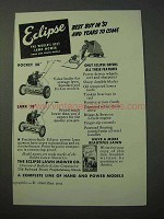 1951 Eclipse Lawn Mower Ad - Rocket 20, Lark 18