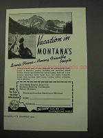 1951 Montana Tourism Ad - Scenic Places