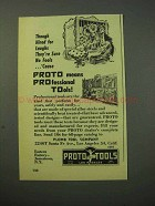 1951 Proto Tools Ad - They're Sure No Fools