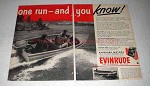 1951 Evinrude Outboard Motor Ad - One Run You Know