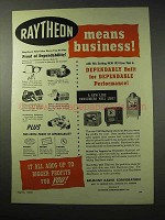 1950 Raytheon Television Ad - Means Business