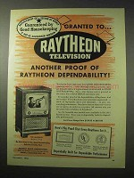 1950 Raytheon The Marquis Model C-1714 Television Ad