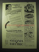 1950 Sylvania Elecric Ad - Doubled Our Store Space