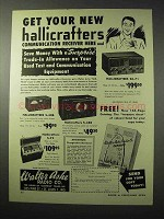 1950 Hallicrafters Receivers Ad - SX-71, S-40B, S-38B