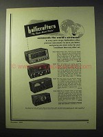 1950 Hallicrafters Receiver Ad - SX-62, SX-71, S-77