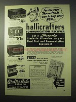 1950 Hallicrafters Receivers Ad - SX-71, S-38B, S-53B