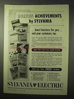 1950 Sylvania Electric Ad - Lighting Achievements