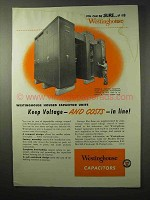 1950 Westinghouse Capacitors Ad - Keep Costs in Line