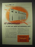1950 Westinghouse Unitized Metal-Clad Switchgear Ad