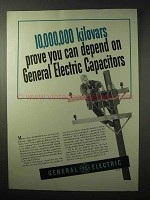 1950 General Electric Capacitors Ad - You Can Depend On
