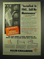 1950 Allis-Chalmers Voltage Regulators Ad