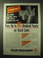 1950 Allis-Chalmers Pole-Type Step Regulator Ad - Pays