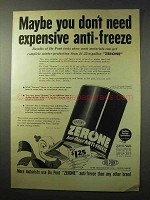 1950 Du Pont Zerone Anti-Freeze Ad