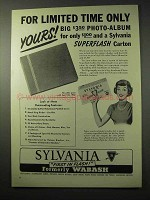 1950 Sylvania Superflash Flash Bulbs Ad - Limited