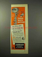1950 Johnson Sea-Horse Outboard Motor Ad