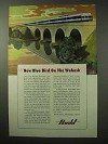 1950 Budd Ad - Blue Bird Train on Wabash Railroad