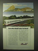 1950 Budd Train Ad - Central Railroad of Brazil