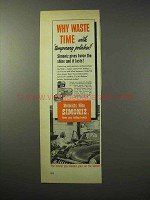 1950 Simoniz Wax Ad - Why Waste Time?