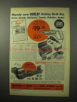 1950 Craftsman Metal Turning Lathe, Dunlap Drill Ad