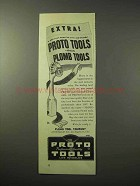 1950 Proto Tools Ad - Formerly Plomb Tools