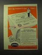 1950 Raytheon Bonded Electronic Technician Program Ad