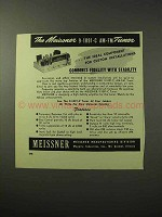 1950 Meissner 9-1091-C AM-FM Tuner Ad - Fidelity