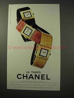 1999 Chanel Le Temps Watch Ad, Matelassee Collection