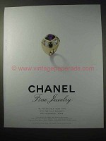 1998 Chanel Coco Ring Jewelry Ad