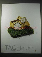 1997 Tag Heuer 6000 Gold Series Watch Ad