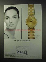 1997 Piaget Dancer Watch Ad - Exceptional Character