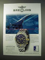 1997 Breitling Crosswind Chronograph Watch Ad