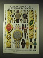 1994 Pulsar Watch Ad - Makes People Tick