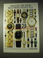 1994 Pulsar Watch Ad - What Makes People Tick