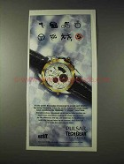 1993 Pulsar Tech Gear F1 Chrono Watch Ad