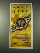 1993 Pulsar Tech Gear World Time Chronograph Watch Ad