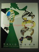 1990 David Webb Jewelry Ad - Rings