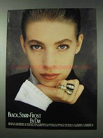 1990 Black, Starr & Frost Jewelry Ad - Rings