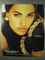 1990 Black, Starr & Frost Gold Jewelry Ad