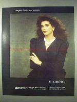 1989 Mikimoto Pearls Ad - The Gem That Is