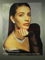 1989 Black, Starr & Frost Jewelry Ad, Diamonds by Night