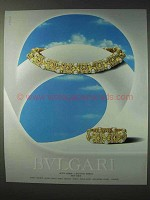 1989 Bvlgari Bulgari Jewelry Ad - Bracelet, Necklace