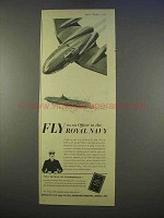 1955 Royal Navy Ad - Fly As an Officer
