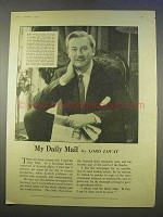 1955 Daily Mail Ad - Featuring Lord Lovat