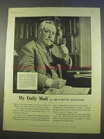 1955 Daily Mail Ad - Featuring Sir Compton Mackenzie