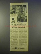 1955 Burroughs Accounting Machine Ad - Production